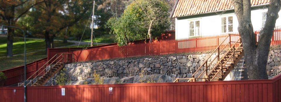 Stenarbeten-mur